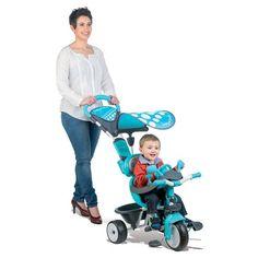 Detská trojkolka so slnečníkom Baby Driver modrá Baby Driver, Tricycle, Keds, Baby Strollers, Bike, Children, Kid, Baby Prams, Bicycle