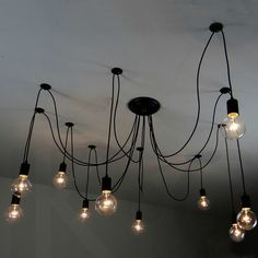 Vintage Pendant Lamps Loft retro Edison bulbs Hanging lights Creative spider lighting fixture Free shipping-in Pendant Lights from Lights & Lighting on Aliexpress.com   Alibaba Group