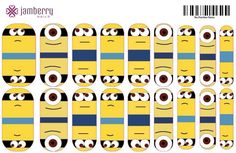 Custom Minions Wraps created in the Jamberry Nail Art Studio!  Create yours today. http://www.jessicaswindle.jamberrynails.net/