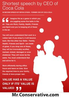 30 Seconds of Wisdom From Coca Cola CEO