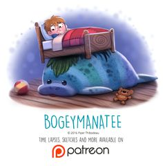 Day+1435.+Bogeymanatee+by+Cryptid-Creations.deviantart.com+on+@DeviantArt