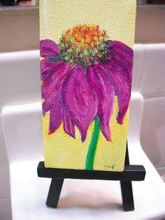 Echinacea  Purple Coneflower Original Painting by SharonFosterArt, $16.00