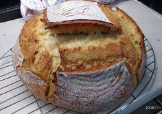 κύρια φωτογραφία συνταγής Ψωμί χωριάτικο με προζύμι χωρίς ζύμωμα Bread, Cookies, Food, Biscuits, Cookie Recipes, Meals, Breads, Bakeries, Yemek