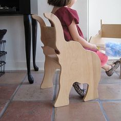 Elephant Chair from  The Child's Menagerie Furniture Collection by Paloma's Nest