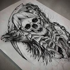 Skull Sleeve Tattoos, Body Art Tattoos, Skull Tattoo Design, Tattoo Designs, Tattoo Sketches, Tattoo Drawings, Self Made Tattoo, Grim Reaper Tattoo, Dark Art Drawings