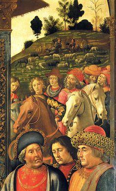 Domenico Ghirlandaio - Adoration of the magi, detail Domenico Bigordi, detto il GHIRLANDAIO (Firenze, 1449 – Firenze, 11 gennaio 1494)   #TuscanyAgriturismoGiratola