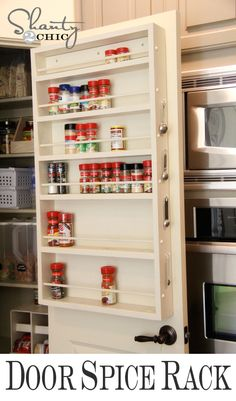 Install a spice rack on the back of your pantry door