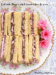 Chocolate Raspberry Pound Cake Tea Sandwiches - Pink Piccadilly Pastries