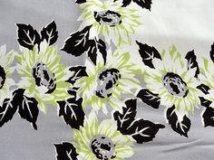 VINTAGE Printed Tablecloth, Retro, 40s 50s, Bungalow Kitchen, Tea Table, Farmhouse,Bridal Showers, Collectible Vintage Printed Tablecloths