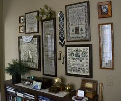 Library sampler wall