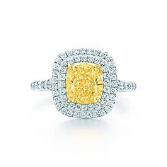 My dream ring :)) Tiffany Soleste yellow and white diamond ring in platinum and 18k gold.