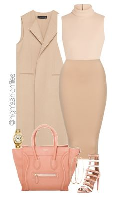 """Nude Tones"" by highfashionfiles ❤ liked on Polyvore featuring Zara, Calvin Klein Collection and Rolex"