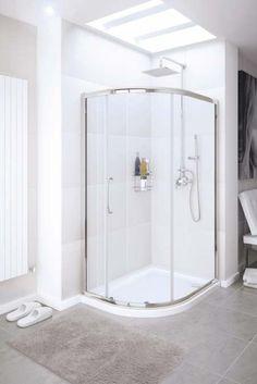 Lakes Offset Single Door Quadrant Shower Enclosure - 1200 x 900mm - Silver