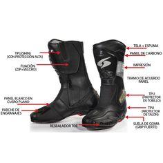 Spyke Rocker WP #Botas de #Moto Motorcycle Leather, Motorcycle Boots, Touring, Leather Boots, Shoes, Style, Fashion, Gothic Clothing, Clothing Stores