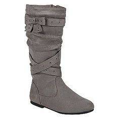 $25 @ Sears. Didn't get great reviews though.     Expressions- -Girl's Alena 3 Slouch Boot - Grey