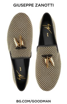 Giuseppe Zanotti presents a new kind of smoking slipper. 212 339 3343