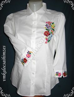 Hungarian Embroidery, Dress Sewing Patterns, Embroidery Designs, Tunic Tops, Folk Art, Jackets, Clothes, Business, Dresses