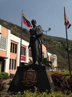 Estatua Simon Bolivar, Casa Guipuzcoana, La Guaira Venezuela