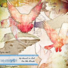 MHiA - For The Birds - New Collection by The Urban Fairy:  My Heart in Art available at www.digitalscrapbookingstudio.com #theurbanfairy #theStudio
