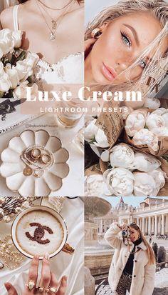 Luxe Cream - 3 Lightroom Mobile Presets Cream Colors @dolcevitapresets #lightroompresets #mobilepresets #presets #lightroom #blogger Vsco, Web Design, Design Ideas, Aesthetic Colors, Camera Settings, Outdoor Photography, Perfect Photo, Portrait, Artist At Work