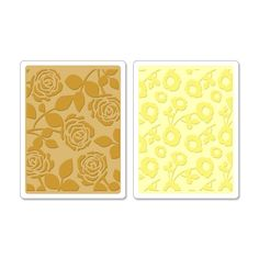 Sizzix - Textured Impressions - Embossing Folders - Pom-Poms and Roses Set at Scrapbook.com