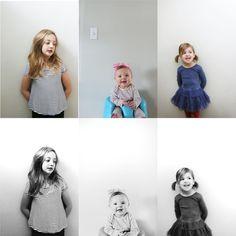 Moderne DIY portretten kids