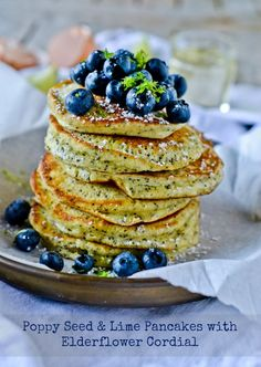Lime Poppy Seed Pancakes