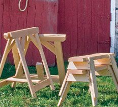DIY woodworking plans | sawhorse plans