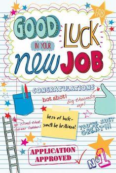 Good luck in your new job (Martina Hogan) - Wallpapers New Job Wishes, Good Luck Wishes, Good Luck Cards, New Job Quotes, Good Luck Quotes, Career Quotes, Best Of Luck Sms, Good Luck New Job, New Job Congratulations