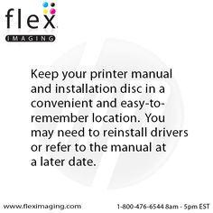 Keep your #printer manual and installation disc in a convenient easy-to-remember location.