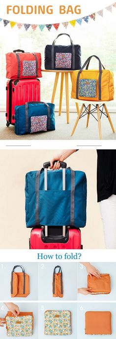 US$4.00 Waterproof Storage Bag Large Travel Bag Luggage Folding Handbag Shoulder Bag Storage Containers