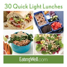Sandwiches, salads, bento boxes and more healthy, low-calorie lunch recipes.