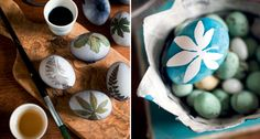 How to colour eggs with motives from the garden - BoligLiv