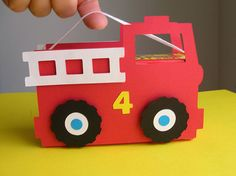 Fire Truck Birthday Party Favor