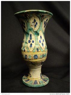 Vase Faïence Marocaine Fin 19ème Céramique Maroc Fez Morocco Pottery