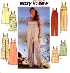 Womens overalls pattern casual jumper or overalls for by HeyChica, $15.95