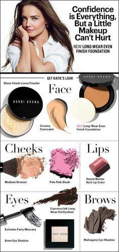 Loving Katie Holmes' natural look and want to recreat it? Gorgeous Makeup, Love Makeup, Makeup Looks, Hair Makeup, Beauty Make Up, Beauty Care, Beauty Hacks, Hair Beauty, Beauty Secrets