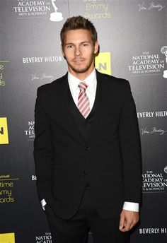 Scott Clifton from the Bold and the Beautiful arrives at the 39th Annual Daytime Emmy Awards at the Beverly Hilton Hotel on 6/23/12.