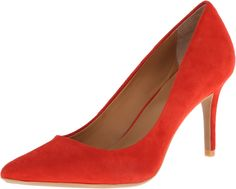 Calvin Klein Women's Gayle Cerise Suede Pump 8 M. Calvin Klein essentials ultimate pump. Great day to night with added gel pod comfort features making this essential to any wardrobe.