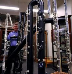 Mutant Flutes. How BIG is that middle black one? What octaves does it play? Can you actually hear it, or do you just feel it?