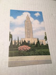 Louisiana LA State Capitol Baton Rouge Postcard Old Vintage Card View Standard