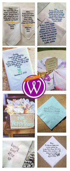 Wipe those tears - Personalized Wedding Hanky - 21 Inspiring inspirations - www.weddzer.com
