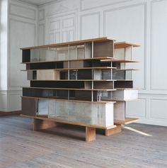 Jacques Vieille; 'Large Boxes'  Plywood, PVC Pipes, Wire and Threaded Rods, 2002.