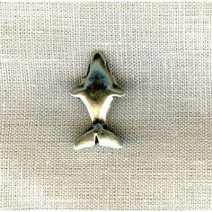 Bouton Métal Requin, col. Argent - La Mercerie Parisienne
