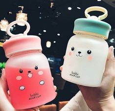 Kawaii Bobbi Bear Drinking Bottle ml.●Material: Borosilicate glass ●About Shipping: time: business days. time: business days to US, please allow weeks shipping to other country.(Shipping times can be affected by variable customs clearance times or Kawaii Faces, Kawaii Cute, Cute Water Bottles, Drink Bottles, Mode Kawaii, Food Storage Boxes, Kawaii Room, Kawaii Accessories, Cute Cups