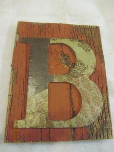 B wall letter barn wood sign