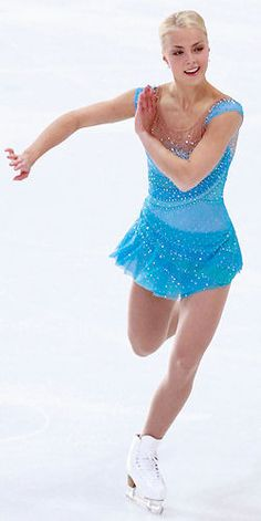 Kiira Korpi -Blue Figure Skating / Ice Skating dress inspiration for Sk8 Gr8 Designs.