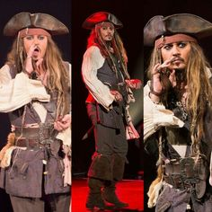 NEW JOHNNY DEPP COMES OUT AS CAPTAIN JACK SPARROW AT D23 8/15/15