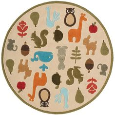 Momeni Lil' Mo Momeni Lil' Mo Whimsy Hand-Tufted Ivory Kids Rug Rug Size: