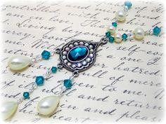 Victorian Necklace - Renaissance Jewelry - Medieval Jewelry - Pearl & Swarovski Crystal Necklace, Tudor, SCA, Elizabethan: on Etsy, $40.00